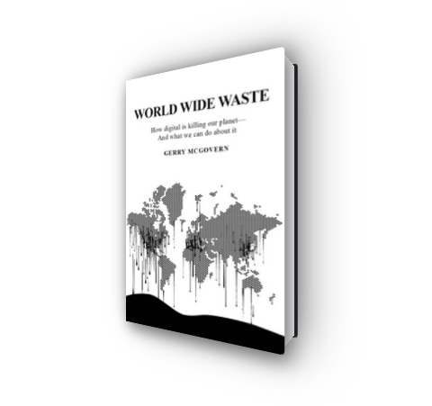 Screenshot of the above demo showing the book World Wide Waste - How Digital Is Killing Our Planet-and What We Can Do About It by Gerry McGovern