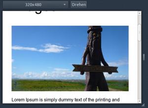 Example Website 500px width